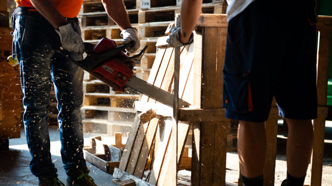 Imballaggi in legno Cippato Torino